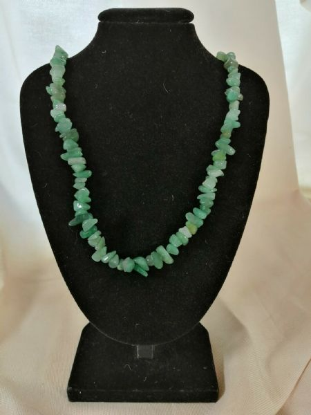"Aventurine Chip Necklace 16"" to 34"", Long Necklace, Short Necklace"